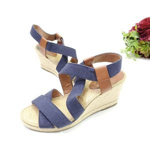 Womens Lucky Brand Espadrille Strappy Wedges
